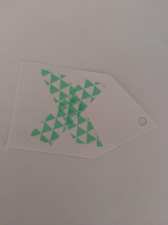 Washi tape t-shirt tags