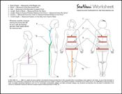 sewing measurements worksheet measurement pinterest measurement worksheets worksheets and. Black Bedroom Furniture Sets. Home Design Ideas