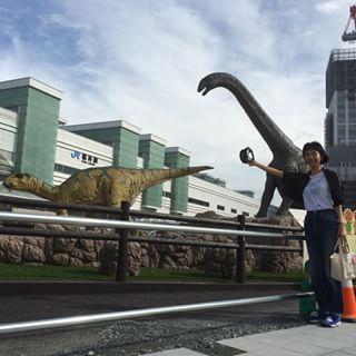 Instagram 写真撮影neuneuneufdy - 駅前工事中のJR福井駅!! 恐竜さん達! 動くよー!! @gakikatsu お店はどちらですか?