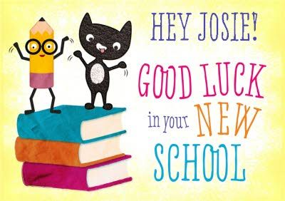 Wish your young #student #goodluck in the #newschool with a personalised card! #firstdayofschool