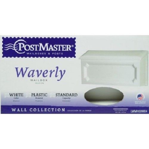 New Postmaster Waverly Mailbox White Standard Capacity Wall Mounted Waverly Elegant Design Wall Mount Mailbox