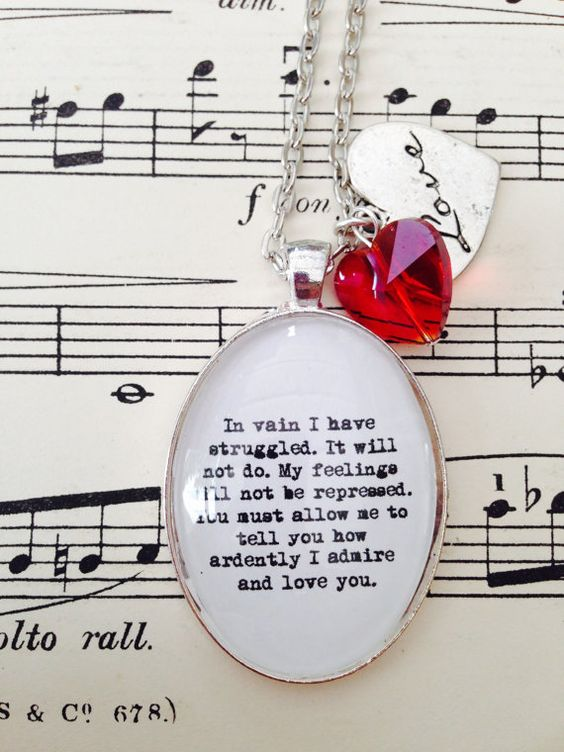 Pride and Prejudice inspired necklace
