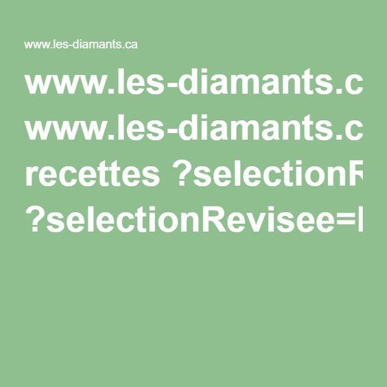 www.les-diamants.ca recettes ?selectionRevisee=MousseAuChocolat&