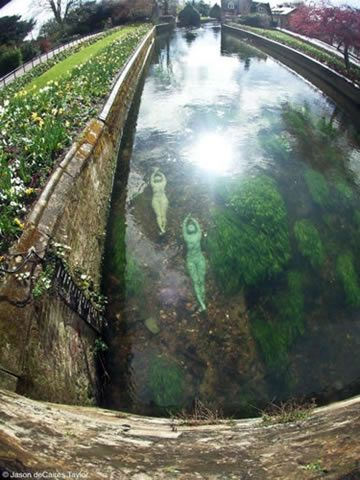 Sculpture in the River in Canterbury by Jason de Caires Taylor