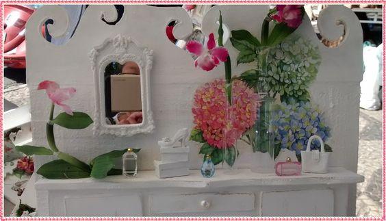 Quadro Cenario Feminino Lady Flowers | Atelier by Dreams | Elo7