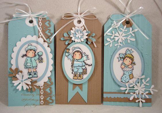 PJSDesigns: 12 Mini Magnolia Tags of Christmas