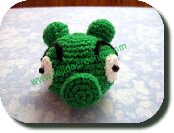 Cerdo Angry Birds Amigurumi : Angry Birds Cerdo Verde a crochet Amigurumi Pinterest ...
