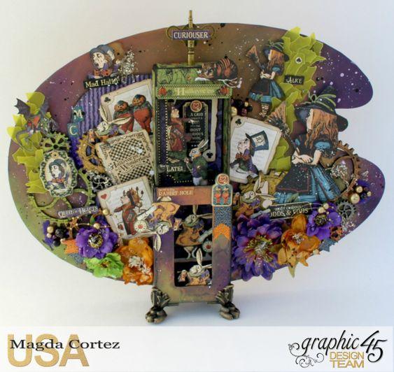 Wonderland Secrets Home Decor-Hallowe'en in Wonderland-By Magda Cortez-Product…