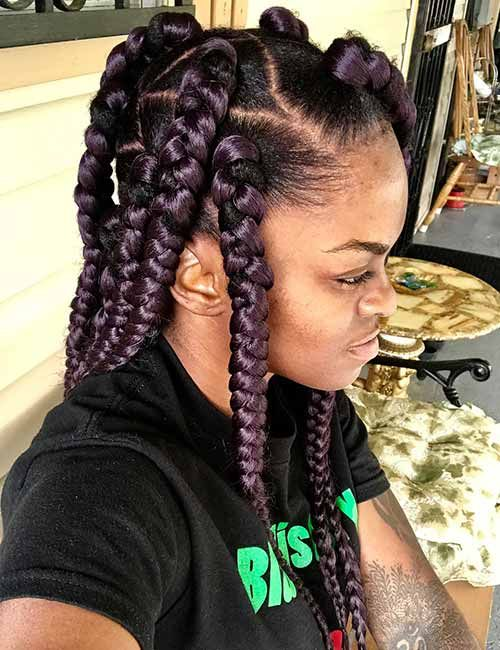 Cornrows Braided Hairstyles 2019 25 Big Box Braids Cornrows That Will Make You Stand Out Correct Hair Styles Box Braids Styling African Braids Hairstyles