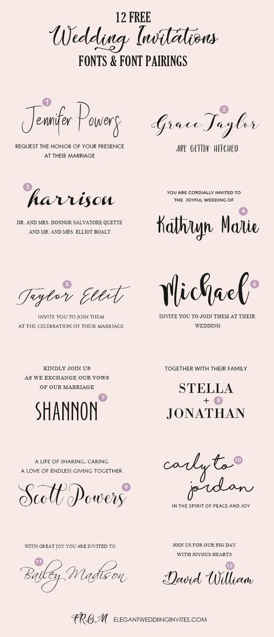 Pin By Danelle Benz On Werk In 2020 Wedding Invitation Fonts Invitation Fonts Wedding Invitations Boho