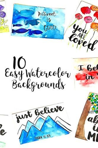 Would You Like To Be Able To Create Easy Watercolor Backgrounds To