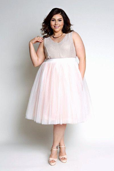 Plus Size Clothing for Women - Plus Size Blush Tutu - Society Plus
