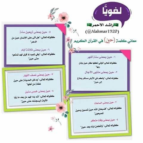 معنى كلمة حين في القرآن الكريم Place Card Holders Place Cards Cards