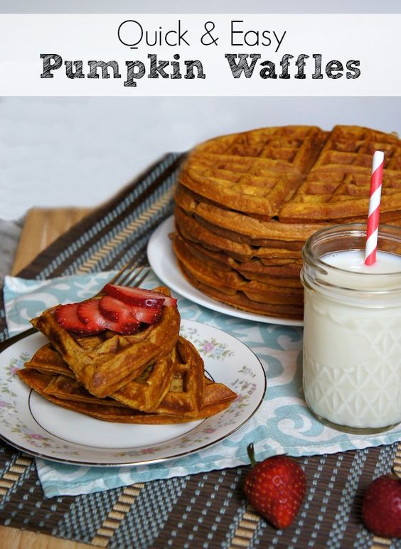 Pumpkin waffles, Waffles and Healthy pumpkin on Pinterest