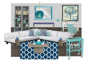 Navy Turquoise Living Room For The Home Pinterest