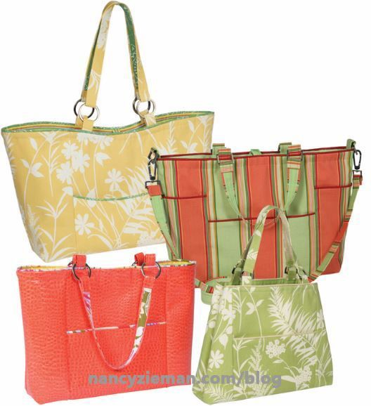 Trace N Create Florida Bag Template By Nancy Zieman And Clover Usa Tote Bags Sewing Sewing Bag Homemade Bags