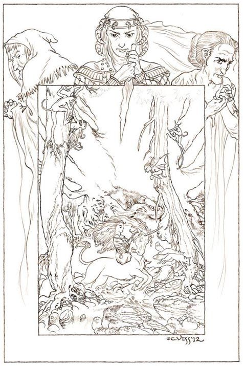 An unfinished Charles Vess image for the Stardust Hardcover…  There are two editions of the Stardust Hardback coming out.  A normal hardcover book, and an expensive, boxed limited edition, signed and probably numbered version.