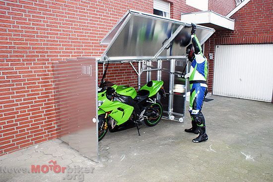 Telescopic Motorcycle Garage