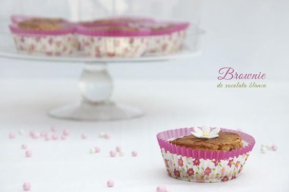 #Brownie white chocolate by Graella de sucre