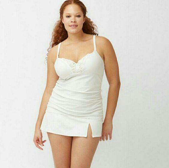 Lane bryant 36DDD swimsuit tank bra New w tags  top only  this is a 36ddd  **Discount when bundled** Lane Bryant Swim Bikinis