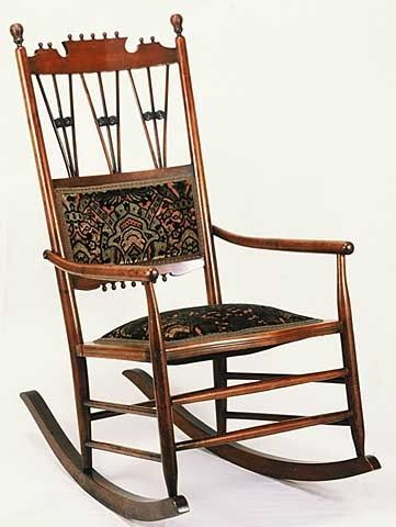 Rocking Chairs From the 1880s  Eastlake maple rocking chair, 1880s.