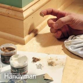 Fill nail holes after staining so that putty matches end result better