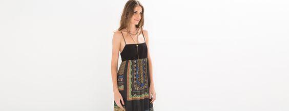 vestido longo paladira preto | FARM