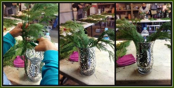Arreglo de flores navideño / como hacer un florero esponjadito – Ana Galena