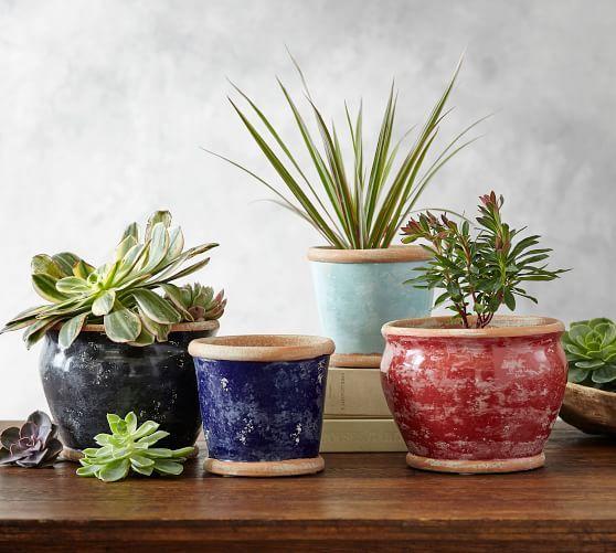Outdoor Planters Patio Planters Plant Pots Pottery Barn In 2020 Vases Decor Garden Vases Vase Fillers