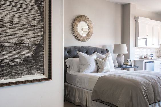 Wayfair Tufted Headboard Bedding Bedroom Transitional With: Gray, Gray Bedding And Grey Duvet Covers On Pinterest