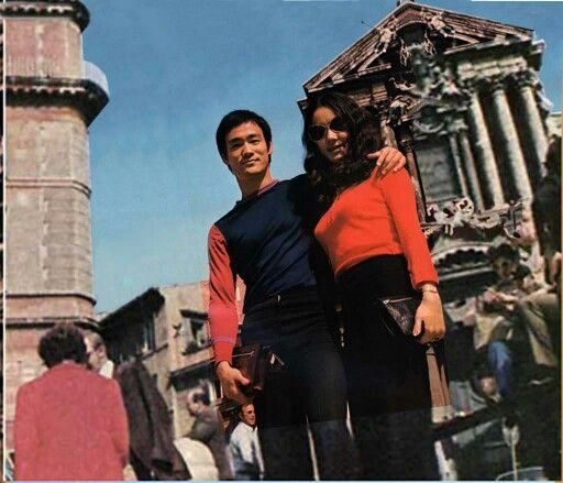 Bruce Lee & Nora Miao in Rome