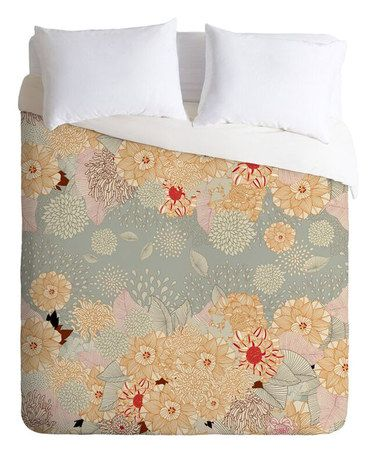 This Iveta Abolina Creme de La Creme Button-Snap Duvet Cover is perfect! #zulilyfinds