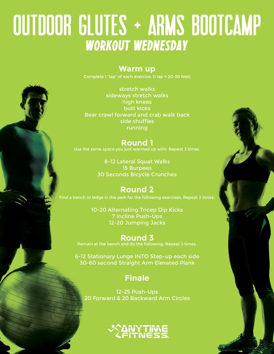 Workout Wednesday: Outdoor Glutes and Arms Bootcamp