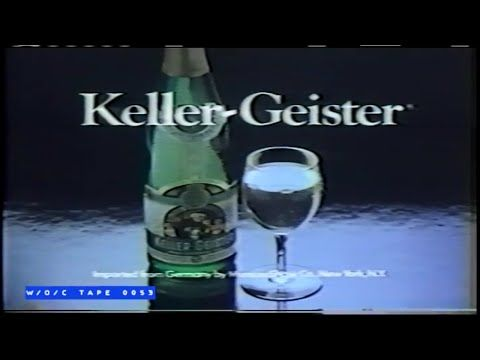 Keller Geister Wine Commercial 1980s Youtube Cue Cards Wine Commercial