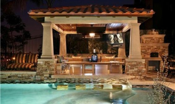 Outdoor kitchen backsplash ideas google search outdoor for Outdoor kitchen backsplash ideas