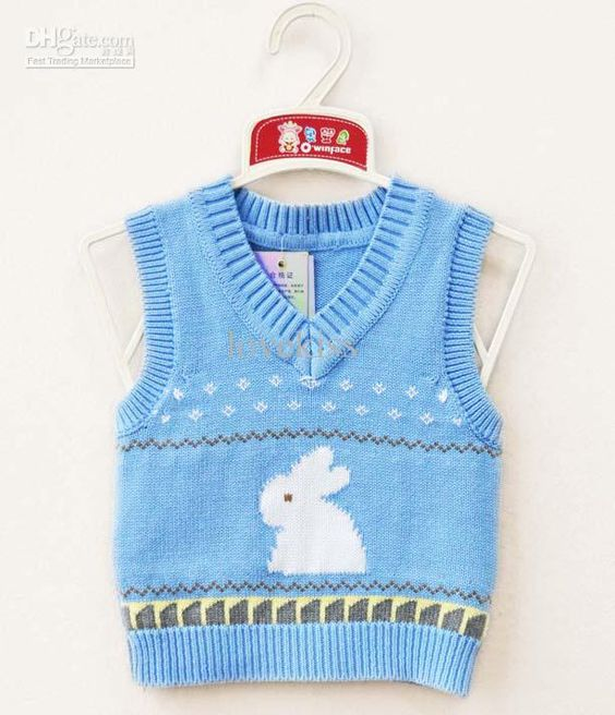 Baby Vest Knitting Pattern : Free knitting pattern baby sweater vest