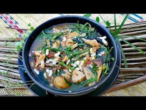 แกงผ กชะอม ผ กเช ยงดา เห ดลม เห ดฟาง ใส ปลาแห ง และไข มดแดง คร วคนเถ อน Ep 105 Youtube อาหาร กะป ตะไคร