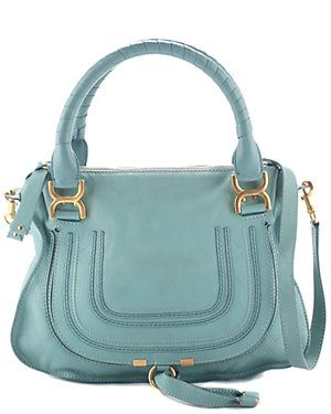 Rue La La — Chloé Blue Leather Medium Marcie Satchel $1,200.00