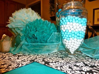 Breakfast at Tiffany's theme with Tiffany's blue