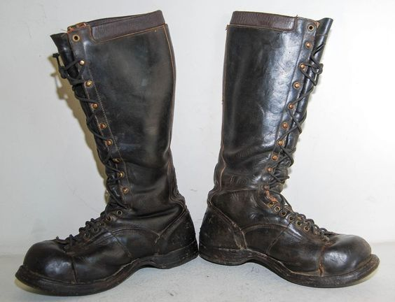 VTG DANNER Leather Lineman Work Boots Black Men's 8.5 M | Lineman ...