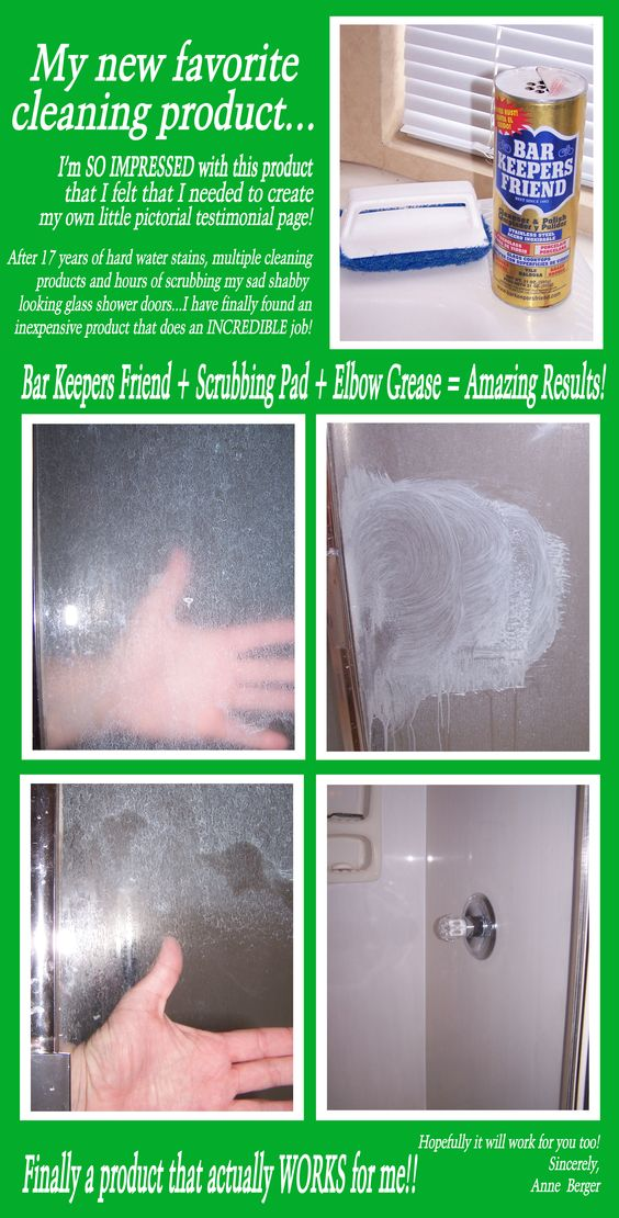 This is my own TRUE testimonial...  Years of film on glass shower doors... erased!!