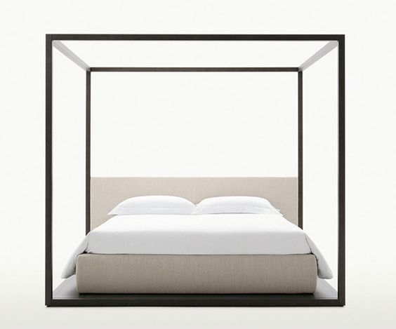 Double beds: Bed Alcova by Maxalto