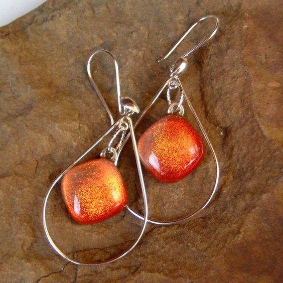 Fused Glass Earrings Coral Sunset Sterling and by GlassCat on Etsy, $25.00 http://media-cache7.pinterest.com/upload/58828338852660762_81mFxpN2_f.jpg earmarksocial full time etsy crafters
