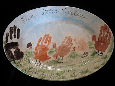 Great memory plate for Thanksgiving