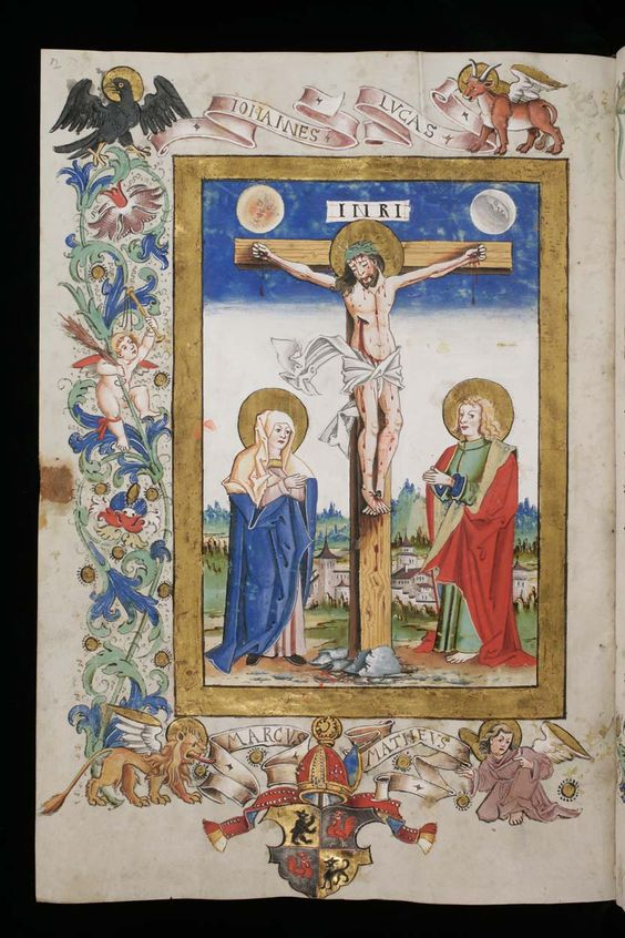 St. Gallen, Stiftsbibliothek, Cod. Sang. 357: Missel · 1555 Langue:Latin (http://www.e-codices.unifr.ch/fr/list/one/csg/0357):