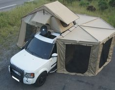 2-5M-BAT-WING-FOX-WING-HEXAGONAL-AWNING-CAMPING-ROOF-TOP-4WD-TENT