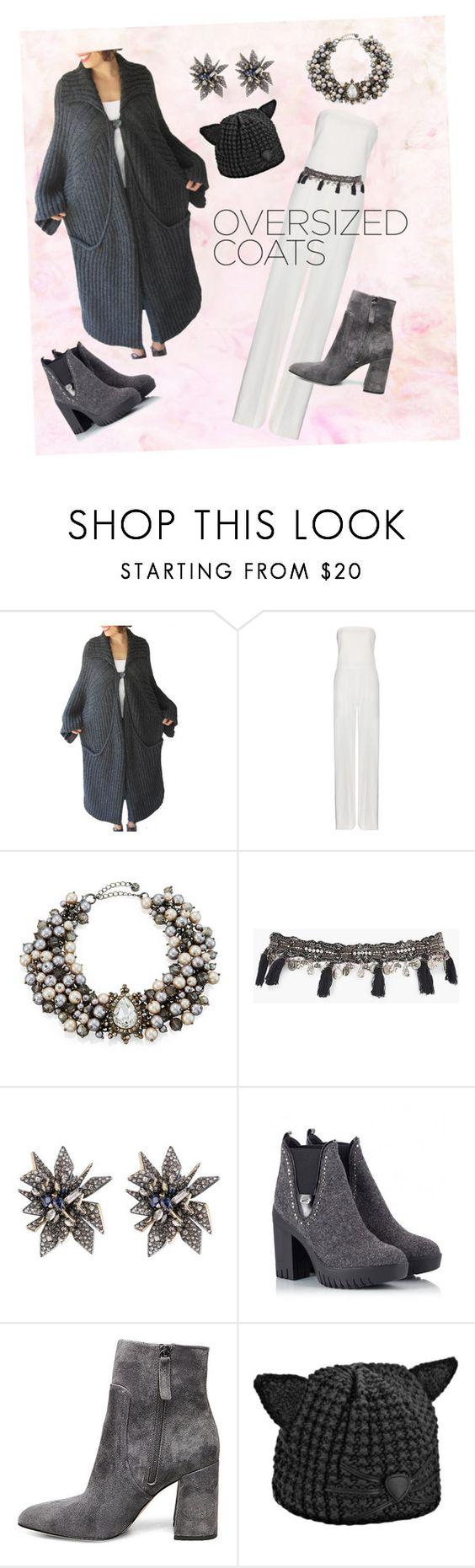 """""""oversized delight"""" by kkornak ❤ liked on Polyvore featuring STELLA McCARTNEY, Lydell NYC, Boohoo, Alexis Bittar, Alberto Guardiani, Steve Madden and Karl Lagerfeld"""