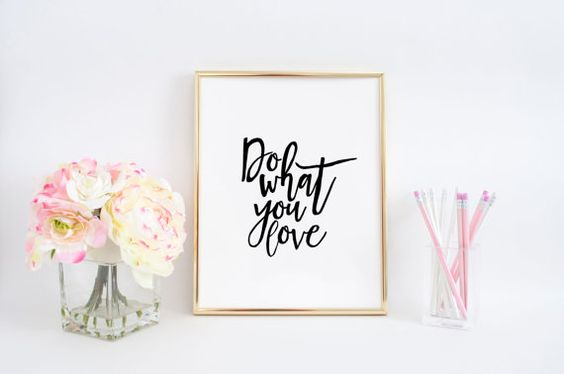 Do what you love print Inspirational quote by whitehouseprint