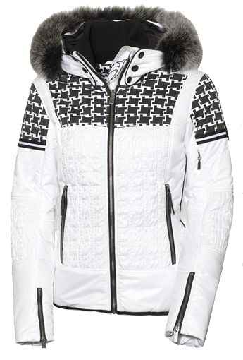 Toni Sailer Daphne Fur Womens Ski Jacket White Ski And
