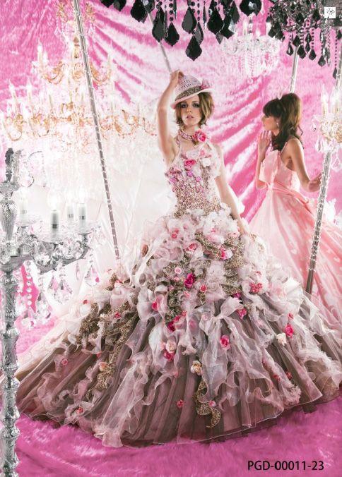Stella De Libero Gown Couture Wedding Bridal Dress Fantasy Flowers Flower Floral Flora